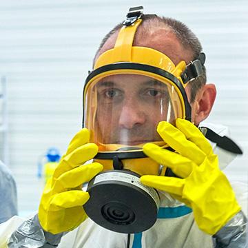 masque à ventilation assistée amiante
